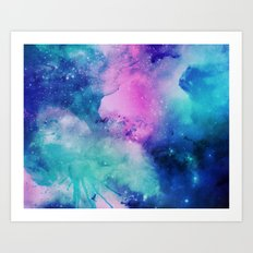 Purple Universe Art Print