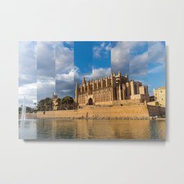 Cathedral of Palma de Mallorca Golden hour Timeslice Metal Print