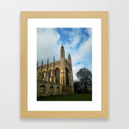 Kings college chapel Framed Art Print