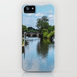 The River Avon At  Tewkesbury iPhone Case