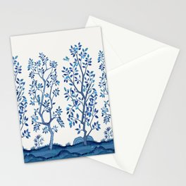 Blue Chinoiserie Citrus Grove Mural Stationery Cards