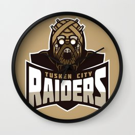 Tusken City Raiders - Tan Wall Clock