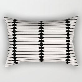 Minimal Geometric Pattern - Black and White Rectangular Pillow