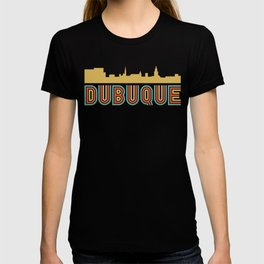 Vintage Style Dubuque Iowa Skyline T-shirt