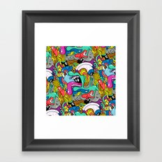 Brain Dump Framed Art Print