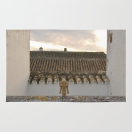 Danbo on rooftops  Rug