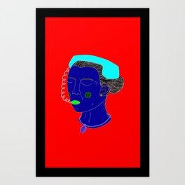 Anxious Lady Art Print