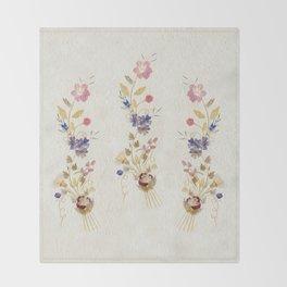 Pressed Flowers by Kathy Morton Stanion Throw Blanket