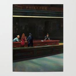 Nighthawks (oil on canvas) Poster