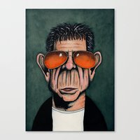 lou reed Canvas Prints featuring Lou Reed by Andres Denkberg
