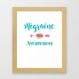 Migraine Headache Pain Awareness Framed Art Print