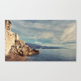 A Monaco View of the French Riviera Canvas Print