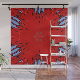 Fire Water Kaleidscope Wall Mural