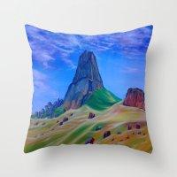 mountain Throw Pillows featuring Mountain by ArtSchool