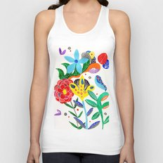 Dreaming in the garden Unisex Tank Top