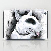 bull terrier iPad Cases featuring Bull Terrier by kitara