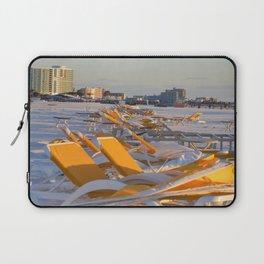 Calm Chaos at the Beach Laptop Sleeve