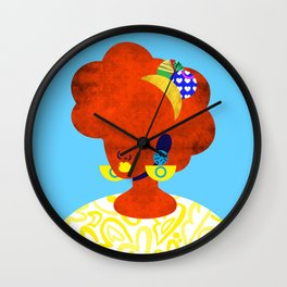 Earrings No. 1 Wall Clock