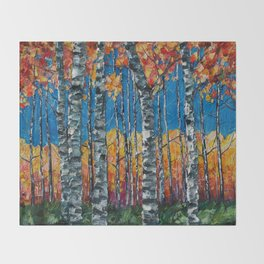 Aspen Grove by Lena Owens Throw Blanket