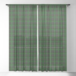 MacAlpine Tartan Plaid Sheer Curtain