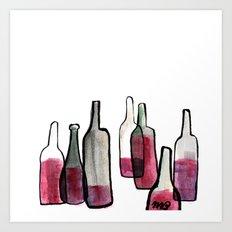 Wine Bottles 2 Art Print