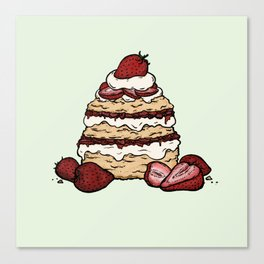 S is for Shortcake Canvas Print