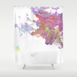 Purple Volcano Shower Curtain