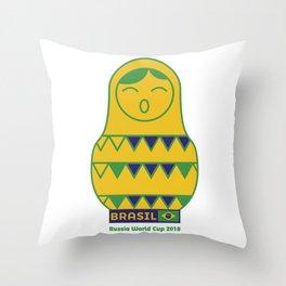 Brasil Matrioska | Russia World Cup 2018 Throw Pillow