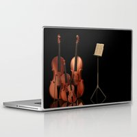mortal instruments Laptop & iPad Skins featuring String Instruments by Simone Gatterwe