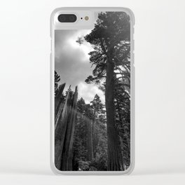 Mountain Sunbeams Clear iPhone Case