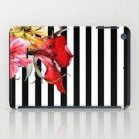 stripes iPad Cases featuring FLORA BOTANICA | stripes by Cheryl Daniels