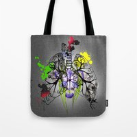 lungs Tote Bags featuring Lungs by Nadia Cruikshanks