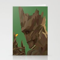 groot Stationery Cards featuring Groot by tophatmonster