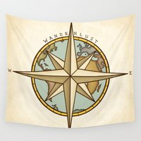 wanderlust Wall Tapestries featuring Wanderlust by StudioBlueRoom