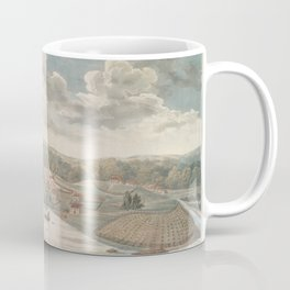 Vintage Pictorial Map of Baltimore MD in 1752 Coffee Mug
