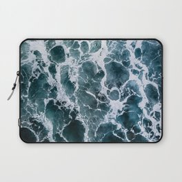 Minimalistic Veins in a Wave  - Seascape Photography Laptop Sleeve