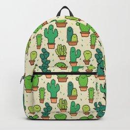 Cute Happy Cactus Cacti Pattern Backpack