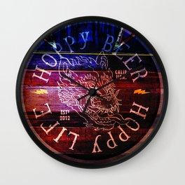 Hoppy Beer Hoppy life Howl Wall Clock