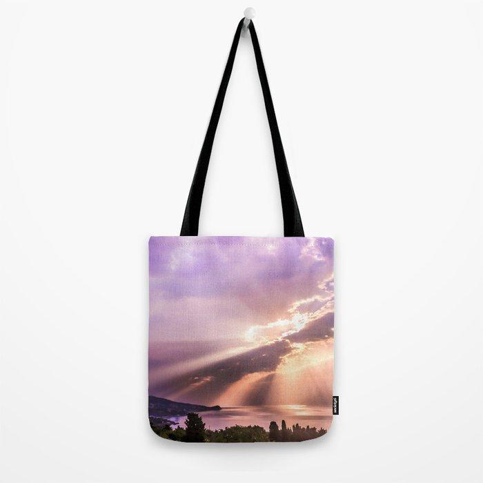Sea sunrise Tote Bag