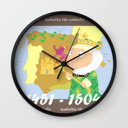 Isabella I of Castile Wall Clock