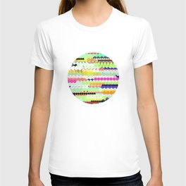 colorful abstract design T-shirt