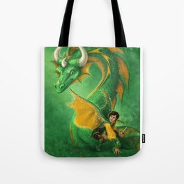 Mili Fay's Warriors of Virtue: Vert Swiftwing Tote Bag