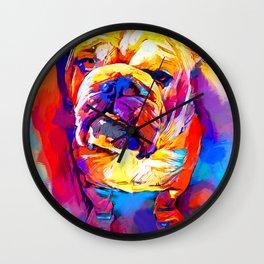 Bulldog 4 Wall Clock