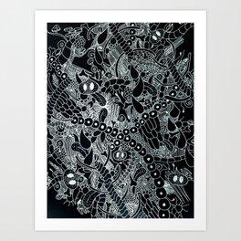Wild Things Black and White Art Print