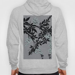 TREE BRANCHES BLACK AND GRAY WITH BLUE BERRIES Hoody