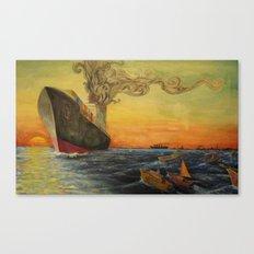 Big Boat Sunset Canvas Print