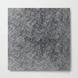 Dirty Rough Gouged Concrete Metal Print