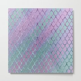 Mermaid Princess Glitter Scales Glam #1 #shiny #stripes #decor #art #society6 Metal Print