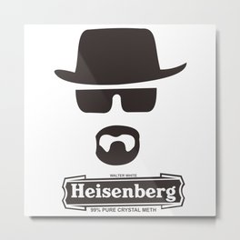 Heisenberg Braking Bad Metal Print
