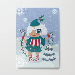 Christmas Sprite Metal Print